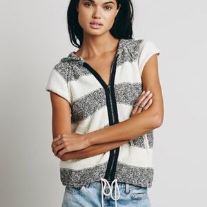 Free People knitted sleeveless zip up